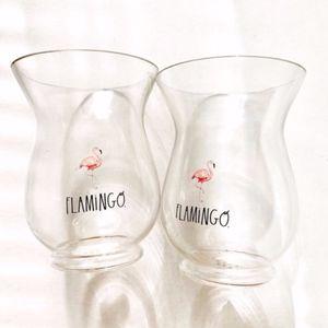 Rae Dunn | Flamingo Hurricane Vase